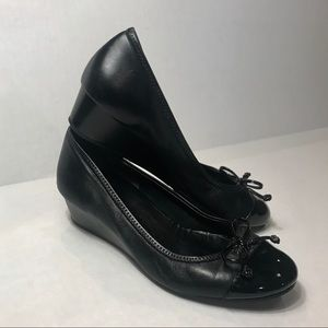 Cole Haan + Nike Milly Wedge With Patent Toe & Bow
